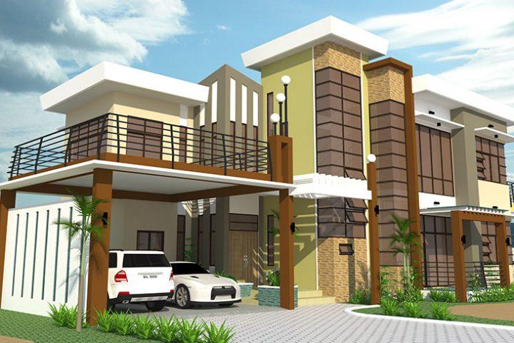 Biệt thự mini 2 tầng đẹp xu hướng hot 2021