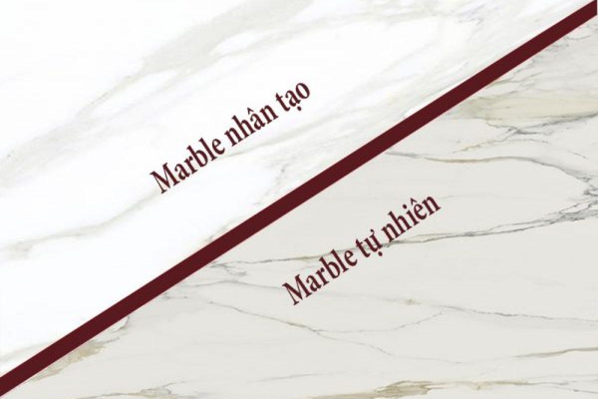 Phân biệt đá Marble tự nhiên và nhân tạo có khó không