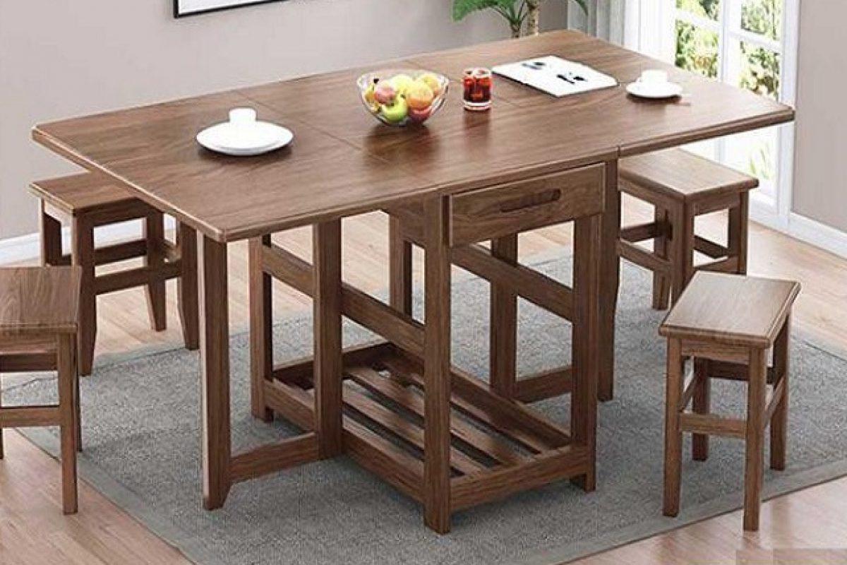 5 mẫu bàn ăn thông minh bằng gỗ đẹp hút mắt