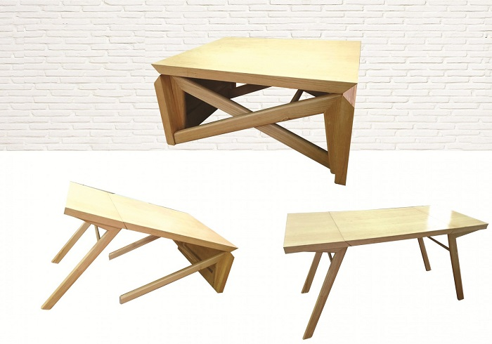 5 mẫu bàn ăn gỗ gấp gọn có thiết kế lạ mắt-1