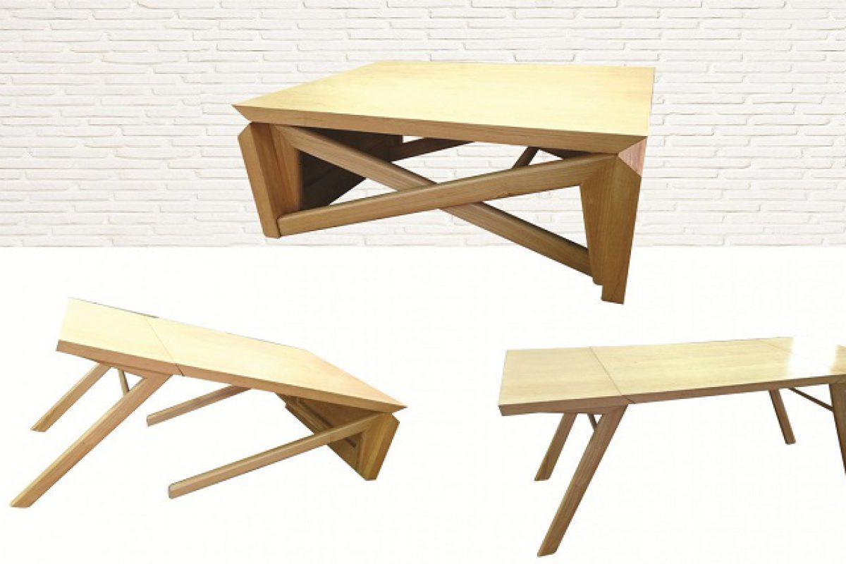 5 mẫu bàn ăn gỗ gấp gọn có thiết kế lạ mắt