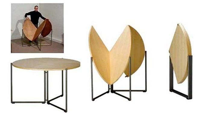 5 mẫu bàn ăn gỗ gấp gọn có thiết kế lạ mắt-6