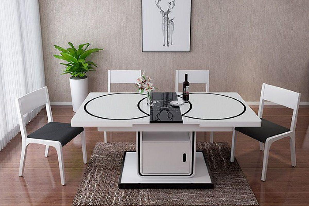 6 thiết kế bàn ăn thông minh gắn bếp từ bán chạy nhất