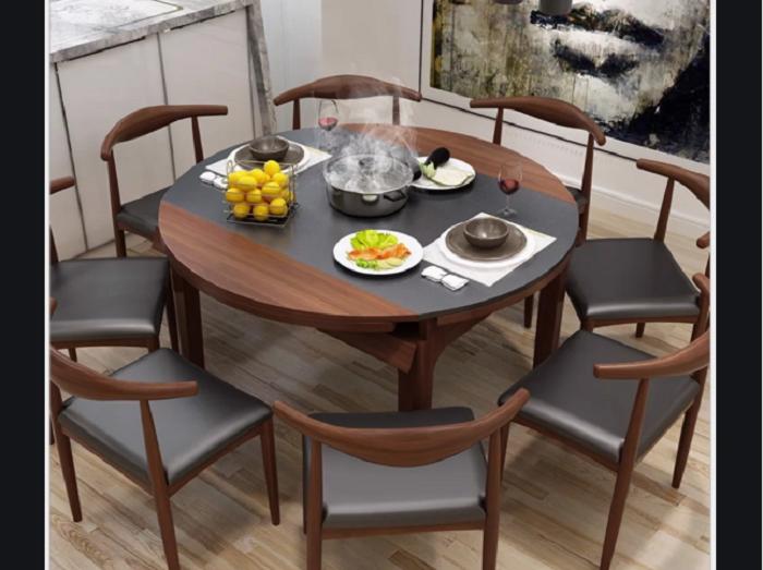6 thiết kế bàn ăn thông minh gắn bếp từ bán chạy nhất-3