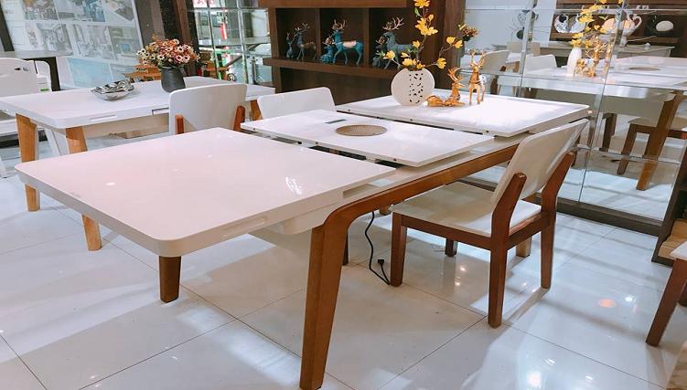 6 thiết kế bàn ăn thông minh gắn bếp từ bán chạy nhất-7
