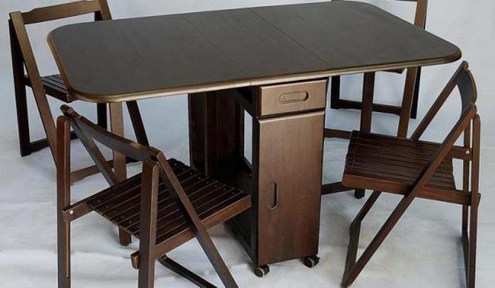 7 mẫu bàn ăn xếp gọn 4 ghế đẹp như mơ-1