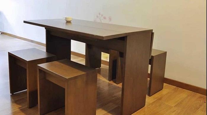 7 mẫu bàn ăn xếp gọn 4 ghế đẹp như mơ-2