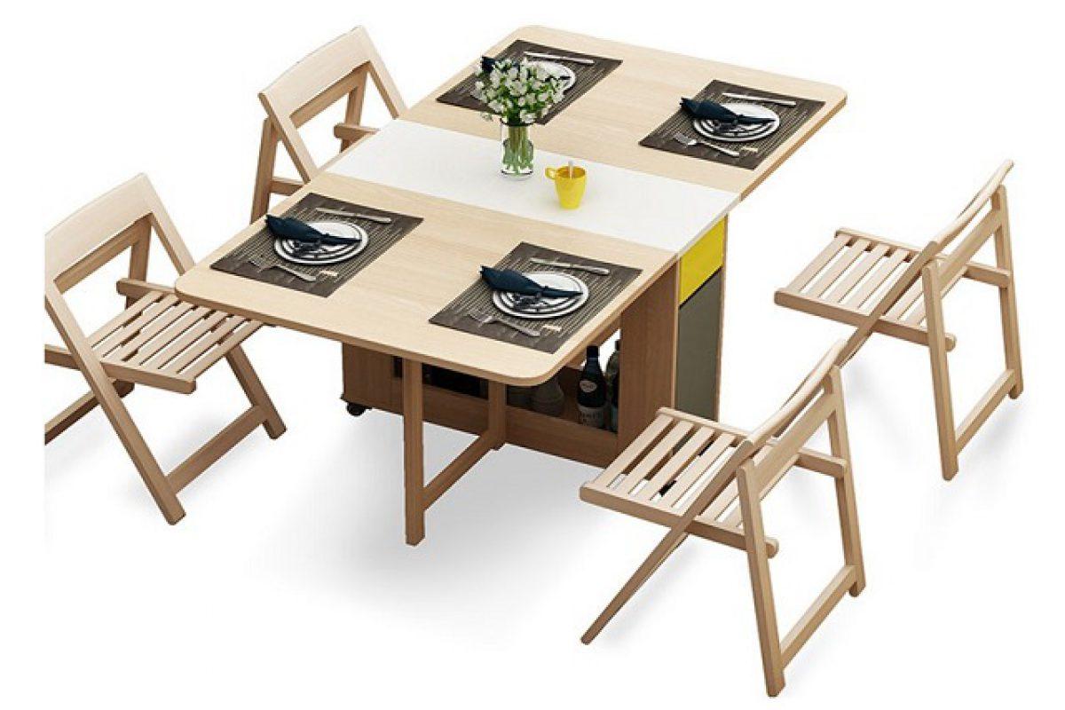 7 mẫu bàn ăn xếp gọn 4 ghế đẹp như mơ