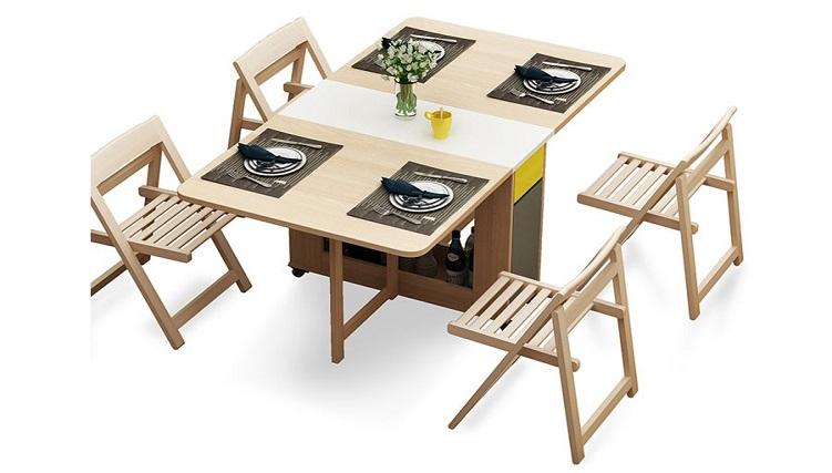 7 mẫu bàn ăn xếp gọn 4 ghế đẹp như mơ-9