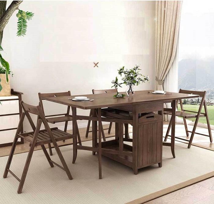 Top 6 bộ bàn ăn thông minh 4 ghế đẹp hiện đại-2