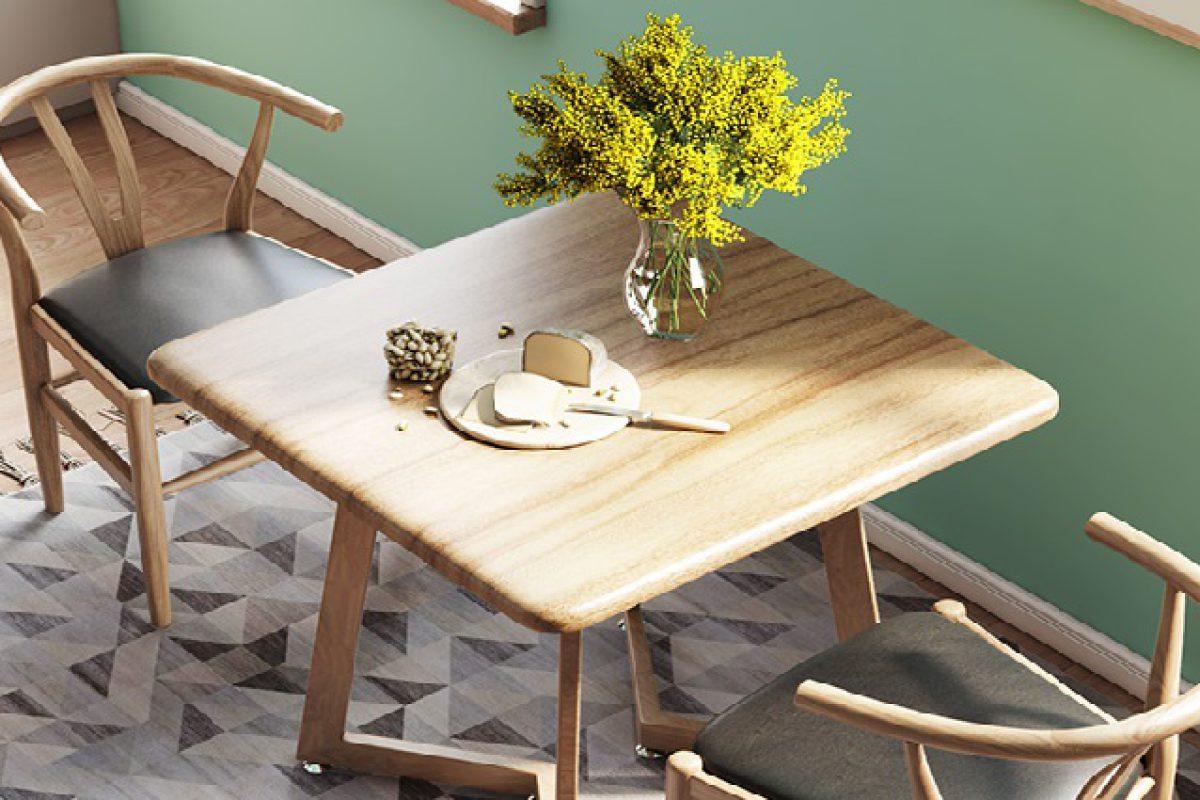Bàn ghế ăn hiện đại mang tới sự tươi mới cho phòng bếp