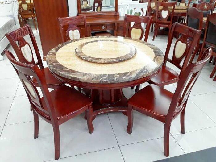 Ưu điểm nổi bật của bàn ăn đá cẩm thạch-3