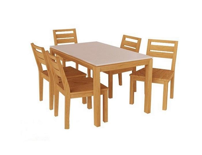 Mẫu bàn ghế ăn gỗ tự nhiên đẹp dành cho không gian hiện đại-1