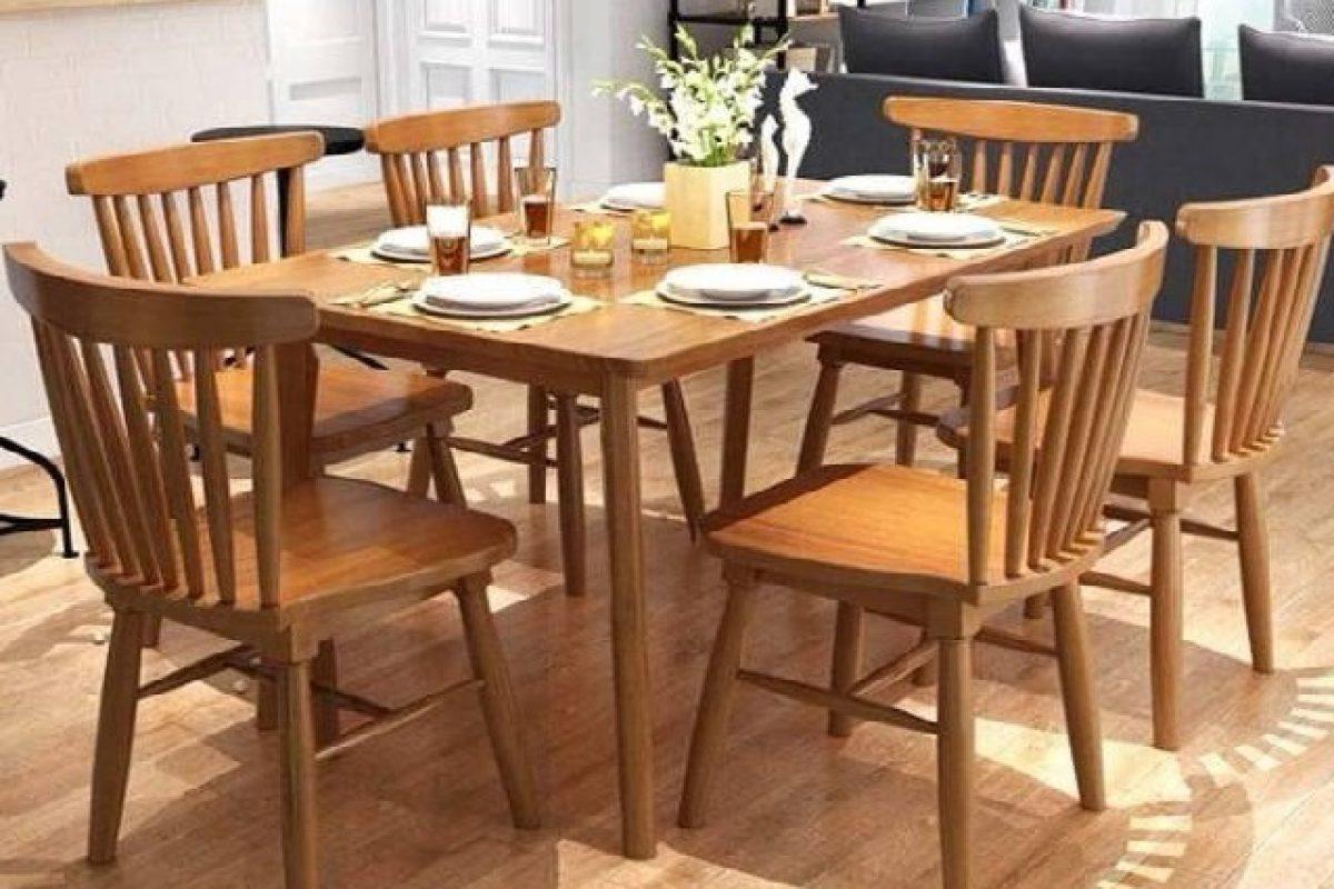 Mẫu bàn ghế ăn gỗ tự nhiên đẹp dành cho không gian hiện đại