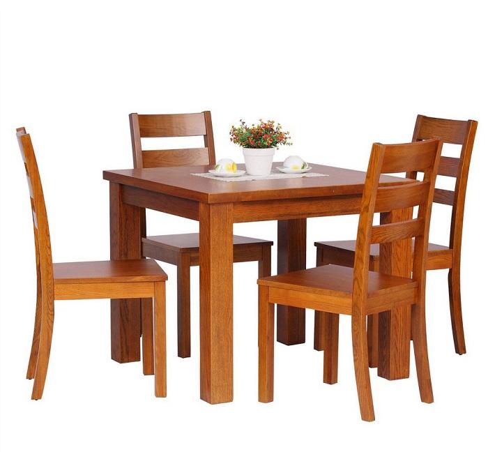 Mẫu bàn ghế ăn gỗ tự nhiên đẹp dành cho không gian hiện đại-2