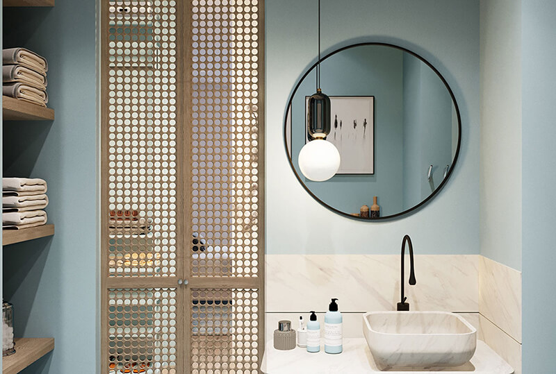 Chuyên gia phong thủy mách bạn cách bố trí gương phòng tắm-2