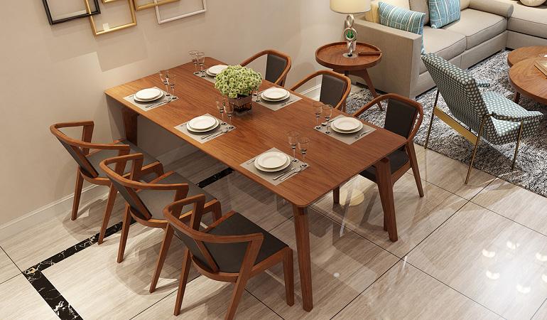 Tư vấn cách lựa chọn bàn ăn đẹp 6 ghế đơn giản-11