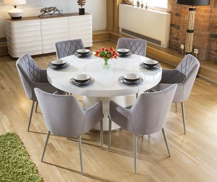 Tư vấn cách lựa chọn bàn ăn đẹp 6 ghế đơn giản-6