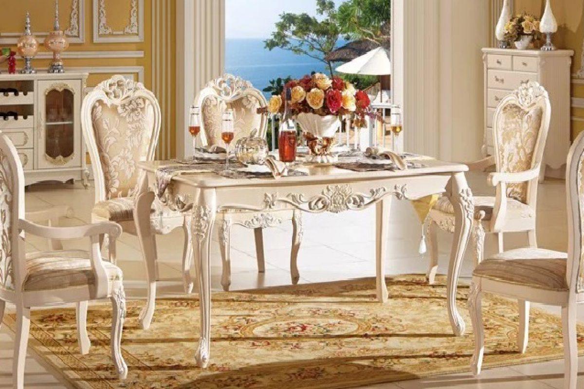 Bàn ghế ăn phong cách châu Âu – mang vẻ đẹp đẳng cấp vào phòng bếp