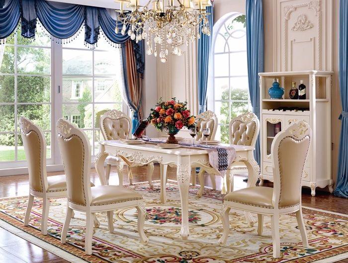 Bàn ghế ăn phong cách châu Âu - mang vẻ đẹp đẳng cấp vào phòng bếp-2
