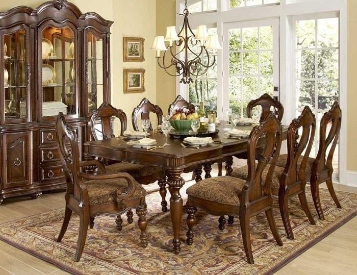 Bàn ghế ăn phong cách châu Âu - mang vẻ đẹp đẳng cấp vào phòng bếp-3