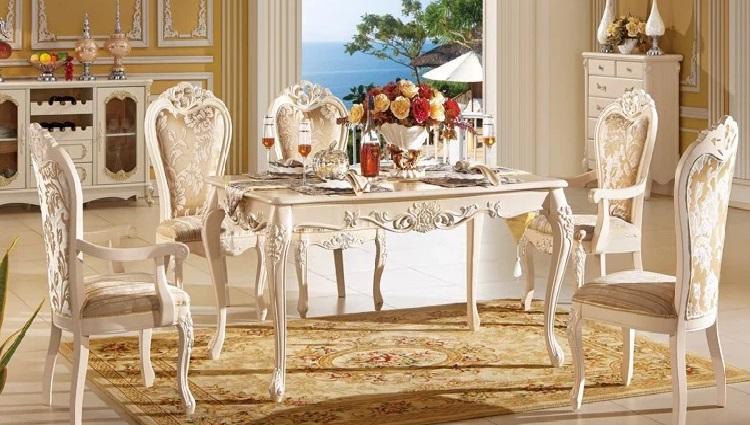 Bàn ghế ăn phong cách châu Âu - mang vẻ đẹp đẳng cấp vào phòng bếp