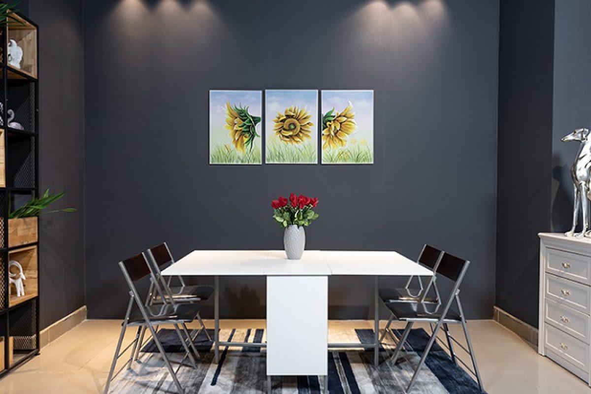 Review 5 mẫu bàn ăn thông minh xếp gọn siêu chất