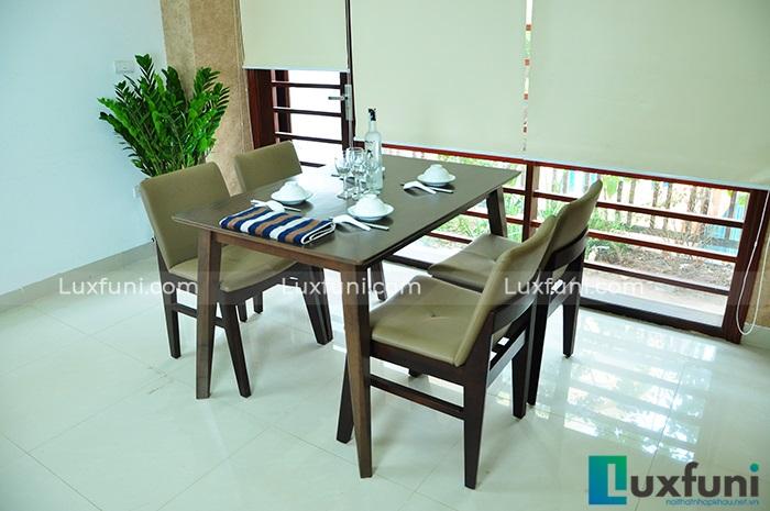 Tổng hợp 10+ mẫu bàn ghế ăn gỗ đẹp hiện đại -5