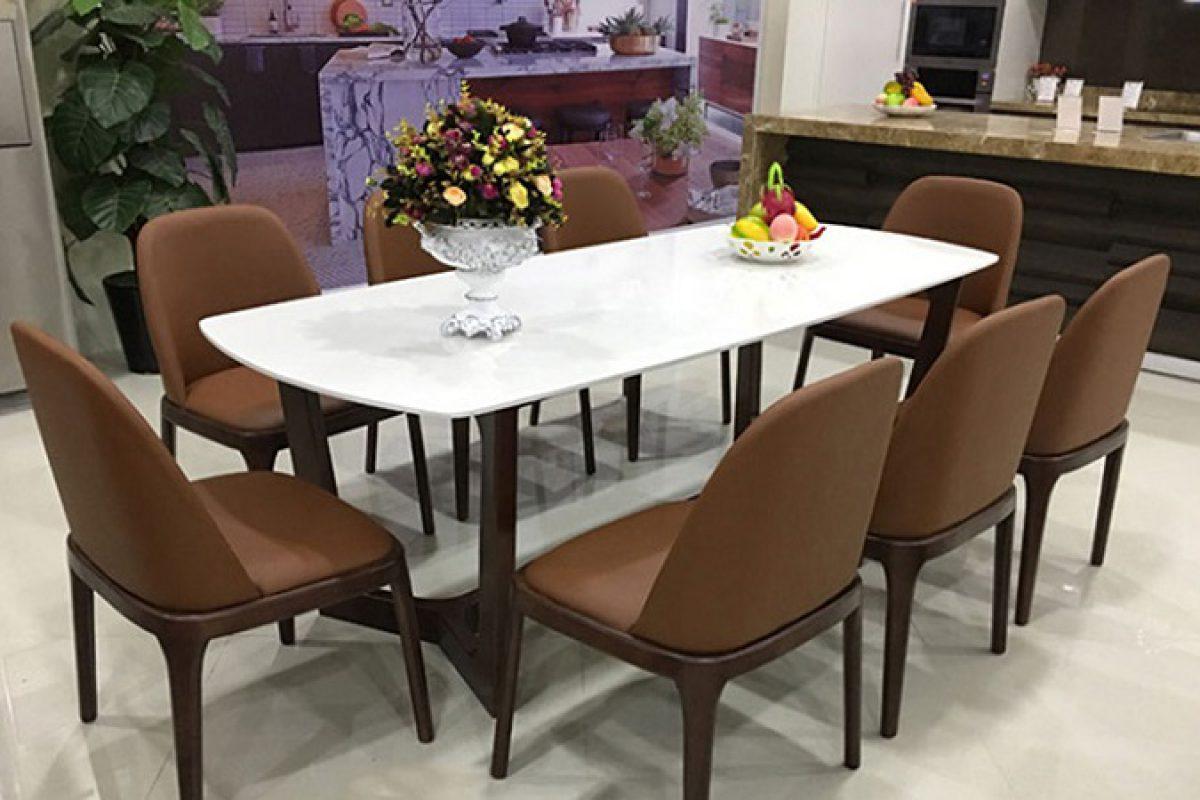 Mê mẩn với 4 mẫu bàn ăn 8 ghế hiện đại dành cho gia đình đông người