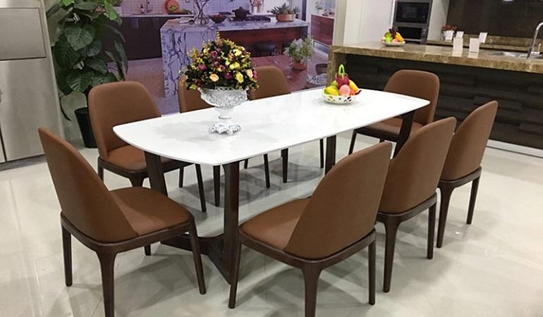 Mê mẩn với 4 mẫu bàn ăn 8 ghế hiện đại dành cho gia đình đông người-0