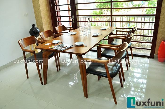 Mê mẩn với 4 mẫu bàn ăn 8 ghế hiện đại dành cho gia đình đông người-1