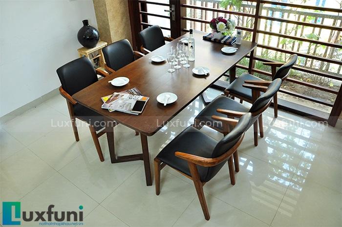 Mê mẩn với 4 mẫu bàn ăn 8 ghế hiện đại dành cho gia đình đông người-3