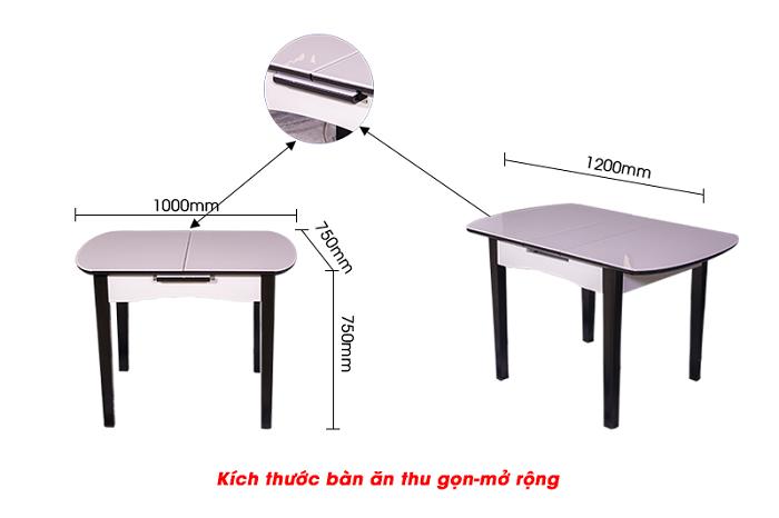 Tổng hợp mẫu bàn ăn gấp thông minh cho không gian bếp nhỏ-7