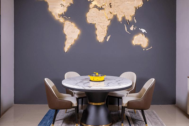 Những mẫu bàn ăn đẹp mặt đá hot nhất 2020-6