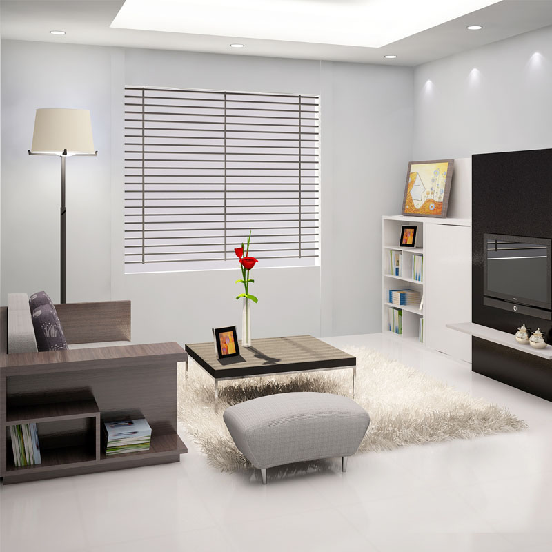 Các gam màu lạnh trung tính như xám, trắng, kem, thường sử dụng cho sơn tường trong các thiết kế nội thất chung cư hiện đại .