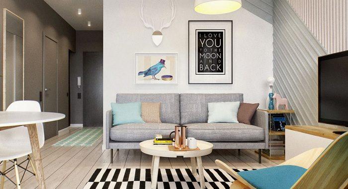 Sử dụng sofa đơn chophòng khách chung cư nhỏ đẹp