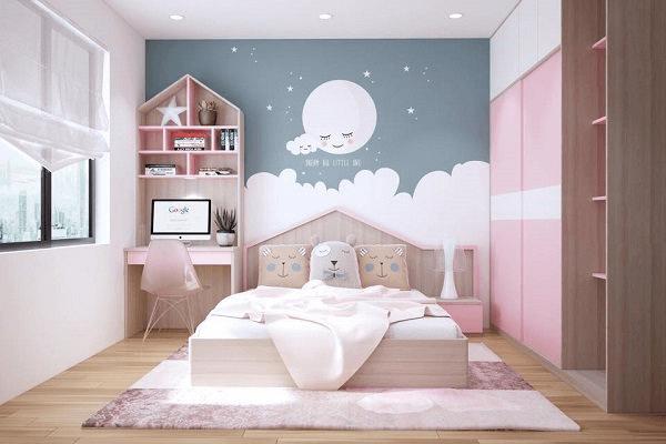 trang trí phòng ngủ bằng họa tiết
