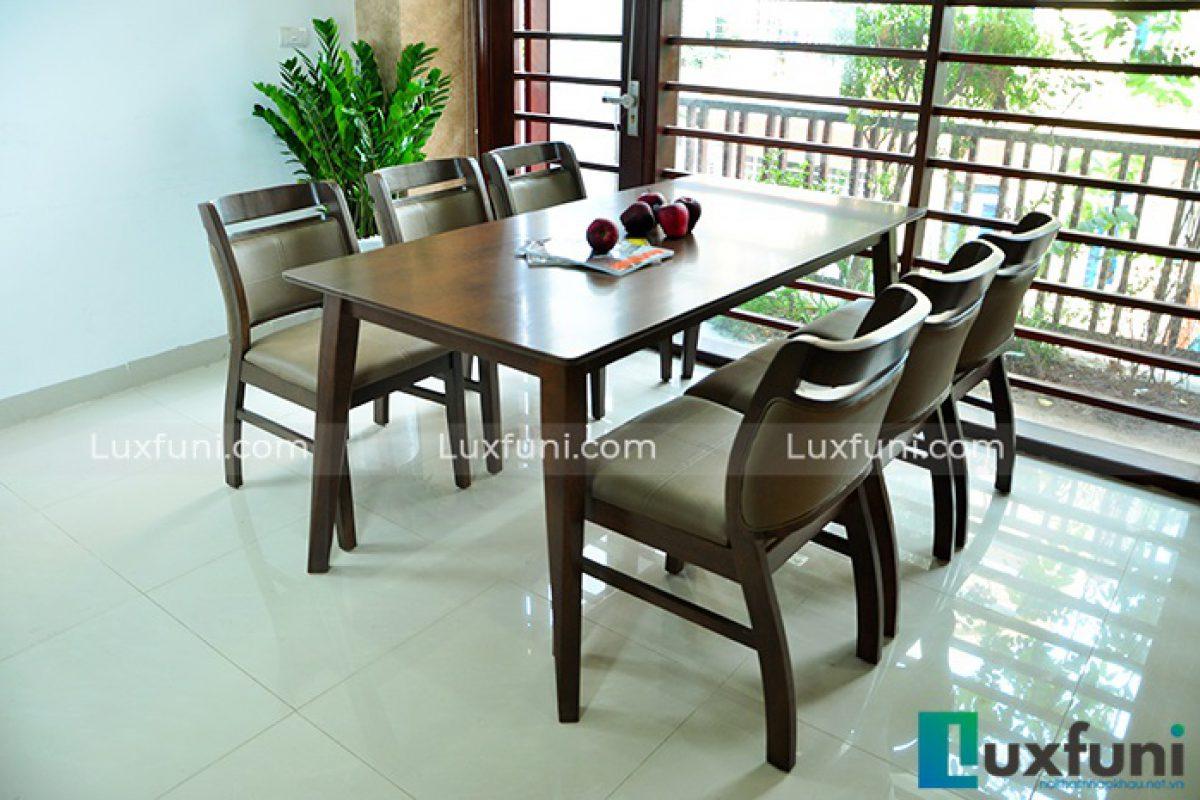 Mua bộ bàn ăn 6 ghế hiện đại từ loại gỗ nào là tốt nhất?