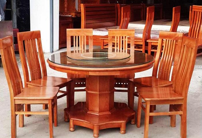 bộ bàn ăn 6 ghế xoan đàon