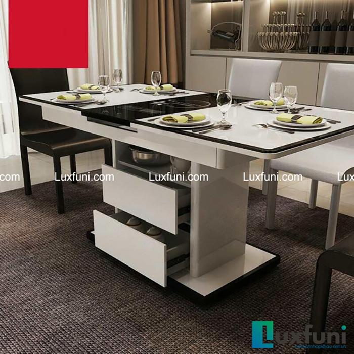 bộ bàn ăn 6 ghế hiện đại gỗ công nghiệp