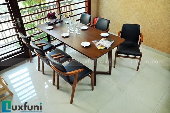 bộ bàn ăn 6 ghế hiện đại Emmanuel HF2012