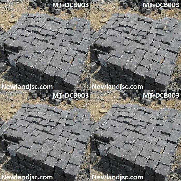 đá ba-zan cubic trang trí sân vườn