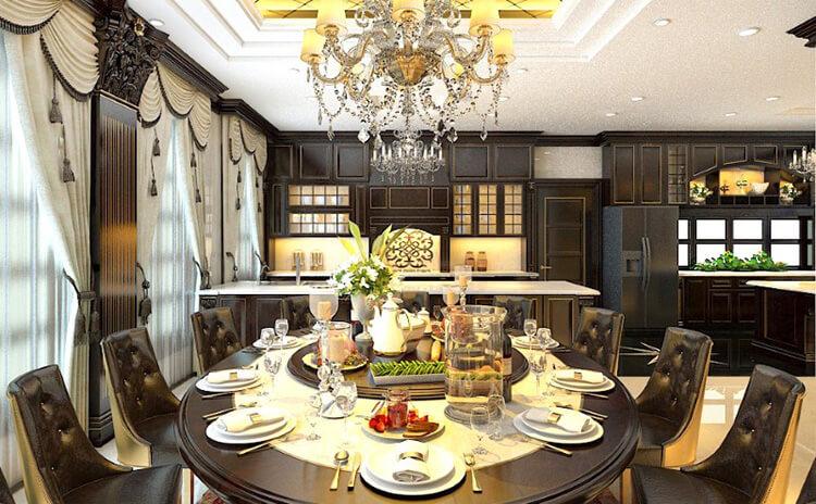 Mẫu nhà bếp đẹp phong cách tân cổ điển