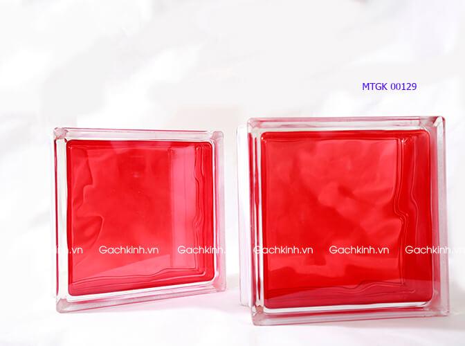 Gạch kính Indonesia vân mây màu đỏ tươi