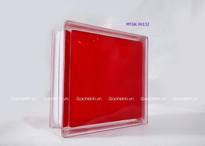 Gạch kính Indonesia vân phẳng màu đỏ tươi
