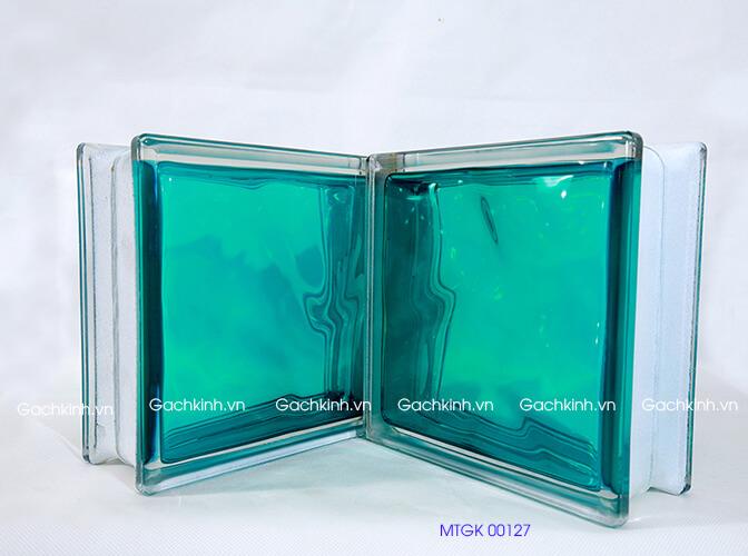 Gạch kính Indonesia màu xanh lam